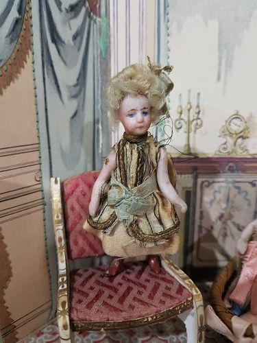 Lovely all Original French Tiny Mignonette in Original Costume