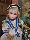 ~~~ Rare Cabinet size Early French Bisque Bebe by Schmitt et Fils ~~~