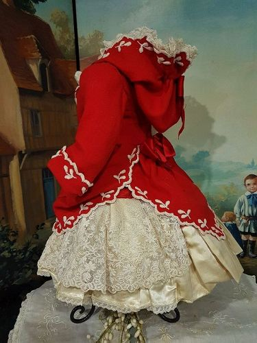 ~~~ Elegant French two piece Bebe silk Costume with Hoody Jacket ~~~
