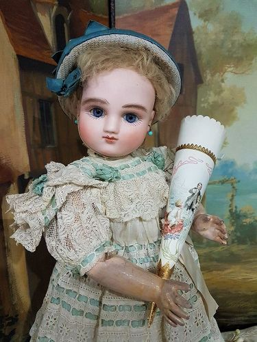 Rare Series A original Premier French Bisque Bebe by Jules Steiner