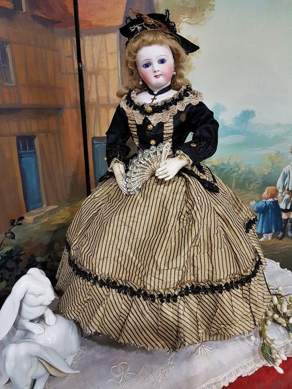 ~~~ Angel Face French Bisque Poupee with Marvelous Costume ~~~