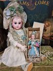 ~~~ Extraordinary French Bisque Candy Container Doll in Box ~~~