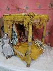 Rare 18th. Century Day Bed with Lavish Fittings & Original Bedding