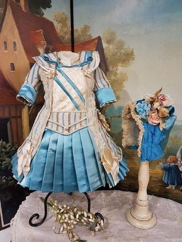 Outstanding Two Piece French Bebe Costume with Bonnet