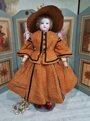 Exquisite Enfantine Costume for Huret era Poupee by Mlle. Bereux