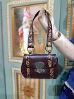 Rare French Poupee Leather Purse with gold Print / 1860/65