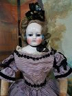 Rare all original Early French Porcelain Poupee by Blampoix / 1858
