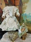 Most Beautiful French Lace and Silk Costume with matching Bonnet