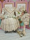 ~~~ Fancy French Bebe Costume with Marching High Brim silk Bonnet ~~~