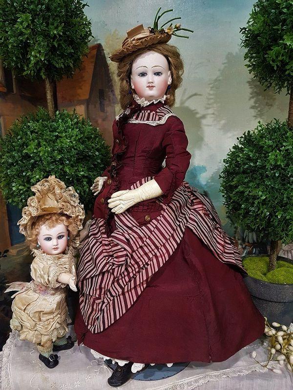 """Rare French Poupee from """" Au Paradis des Enfant """" Paris Doll Shop"""