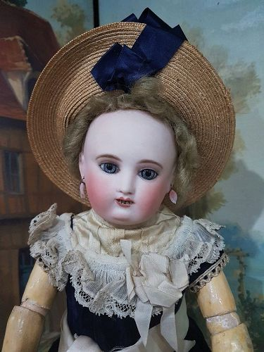 Rare Moon Face French Bisque Bebe Steiner in original Condition/ 1875