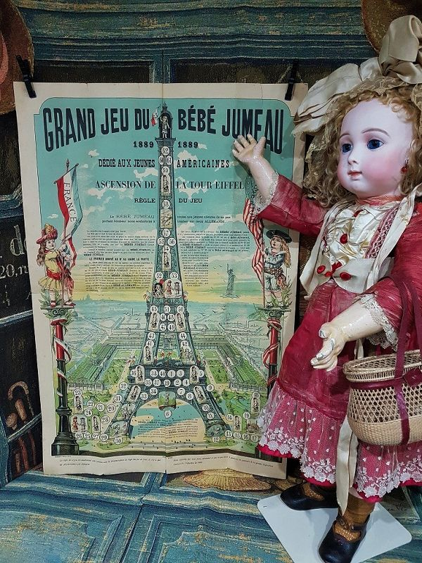 Very rare autentic Maison Jumeau Game for the 1889 Exposition