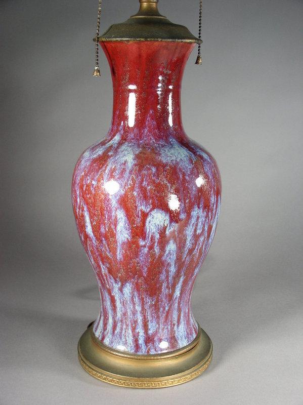 Chinese porcelain flambe glazed vase