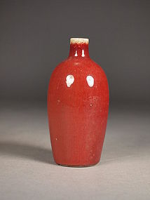 Small Chinese porcelain �sangre de boeuf� bottle