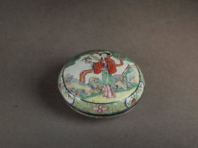 Chinese Canton enamel on copper box