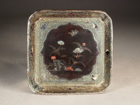 Chinese lacquer Lac Burgaute dish