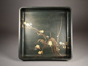 Japanese wooden lacquer tray
