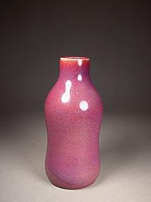 Chinese porcelain copper-red vase