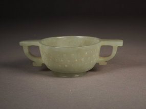 Chinese pale celadon jade cup