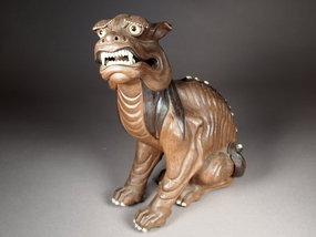 Chinese Yixing stoneware foo dog