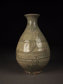 Korean pear-form bottle vase