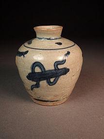 Chinese blue / white porcelain jarlet
