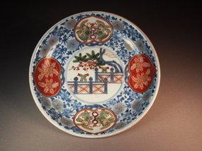 Japanese porcelain Imari dish