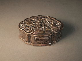 Small Persian repousse silver box