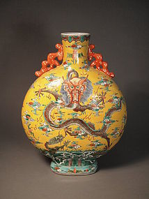 Large Chinese porcelain moon vase