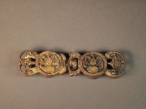 Chinese bronze belt buckle