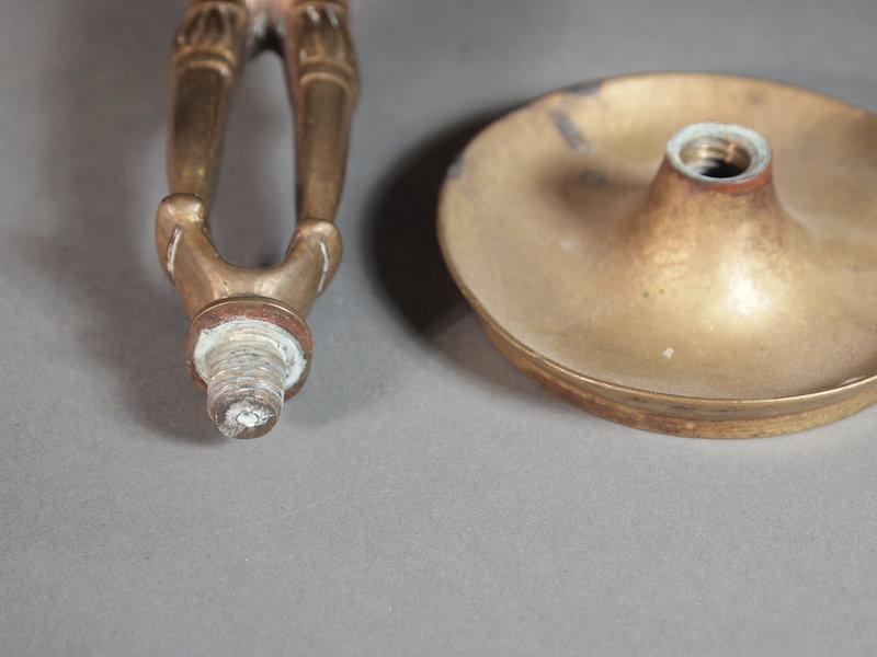 European cast bronze candlestick