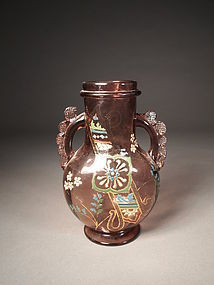 Victorian glass vase, probably English