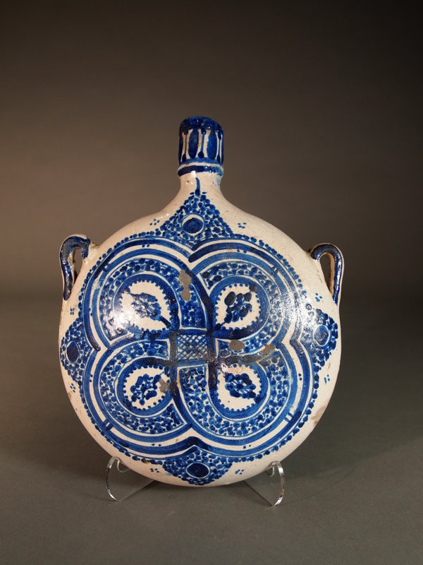 Blue / white canteen, probably Spanish