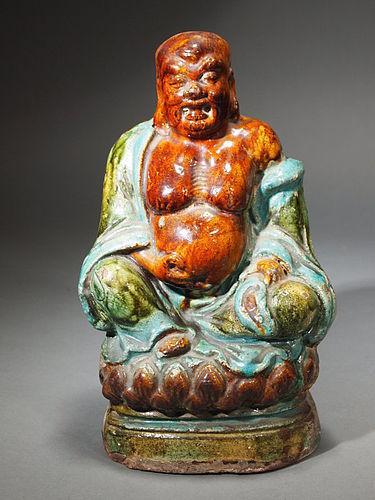 Chinese earthenware Buddha