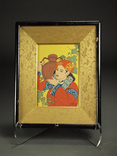 Original woodblock print by Paul Jacoulet