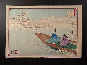 Original woodblock print by Ogata Gekko (1859-1920)