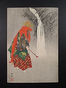 Original woodblock print by Tsukioka Kogyo (1869-1927)