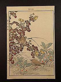 Original woodblock print by Imao Keinen (1845-1924)