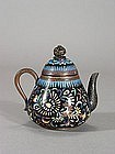 Japanese cloisonne water dropper in the form of teapot