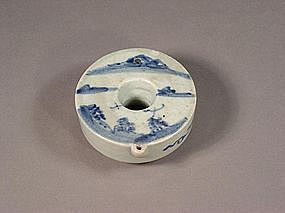 Korean blue and white porcelain ring water dropper