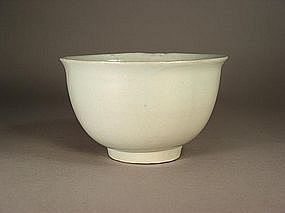 Korean white glazed porcelain bowl