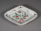 Japanese porcelain dish with floral design