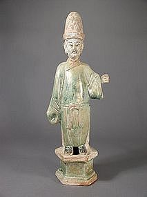 Chinese glazed earthenware tomb figure