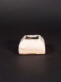 Chinese porcelain crackle glaze brush washer