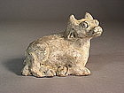 Chinese earthenware zodiac ox figure