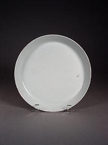 Chinese Jingdezhen white glazed porcelain dish