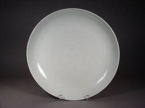 Chinese Jingdezhen white glazed porcelain charger
