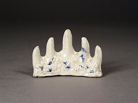Chinese soft paste porcelain brush rest