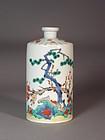 Japanese Kakiemon style porcelain bottle