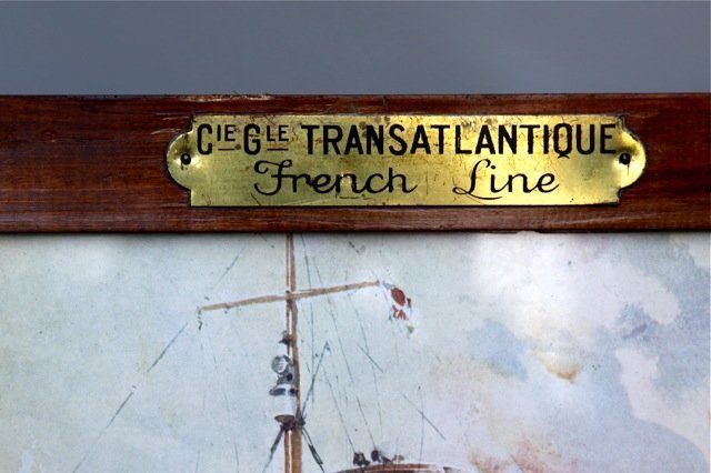 Vintage French Travel Print Transatlantique Lafayette